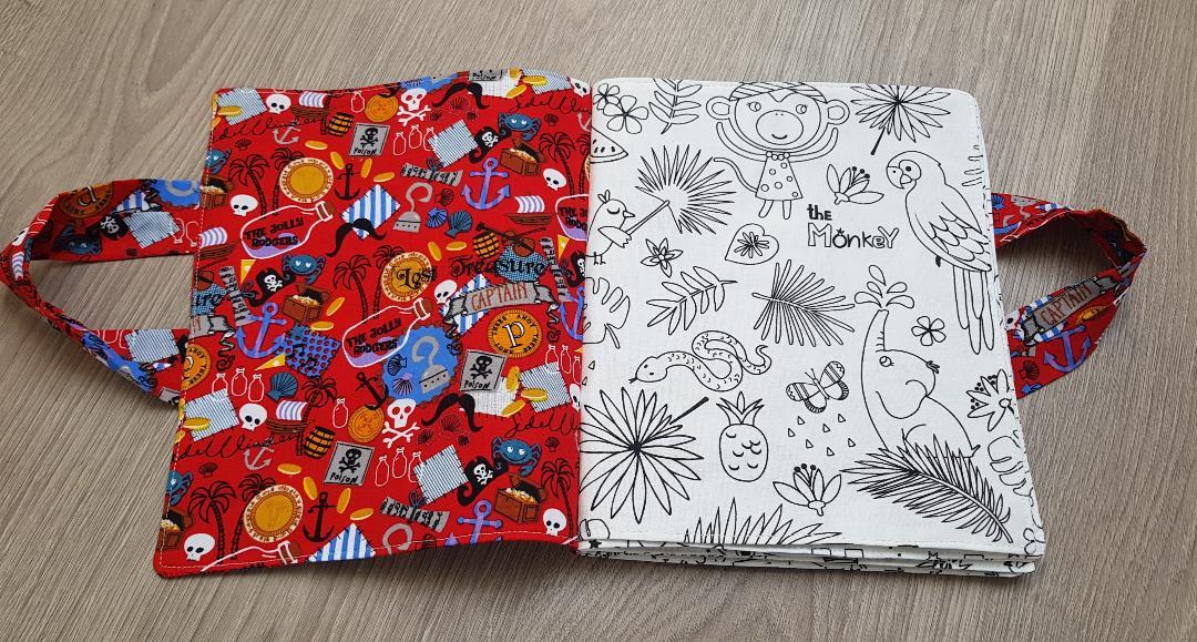 Livre Lavable En Tissu à Colorier Sans Texte Brodé Motifs Girls Or Boys