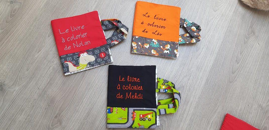 Livre Lavable En Tissu à Colorier Avec Le Texte Brodé Motifs Girls Or Boys